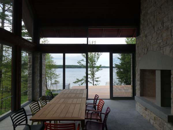 Screened room at the cottage